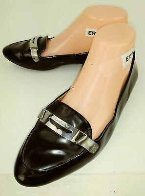843f32418a8 Coach RUTHIE Womens Penny Loafers US 7 B Black Patent Leather Moc Toe Flats  1113