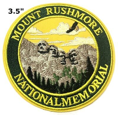 Mount Rushmore National Memorial Patch Iron / Sew-On Embroidered Souvenir Travel