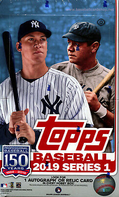2019 Topps Series 1 Baseball Cards Hobby Box + 1 Silver Pack - In Stock Now!!!