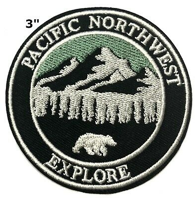 Explore Pacific Northwest Patch Iron / Sew-On Embroidered Souvenir Park Travel