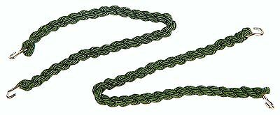 2 Pairs Army Style Olive Green Elasticated Trouser Twists Twisters Leg Ties