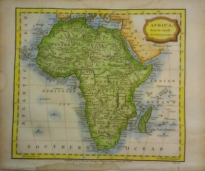 Antique Map of Africa by James Barlow 1806