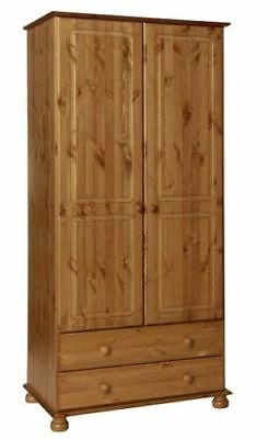 Copenhagen Pine Bedroom Furniture Large Tall 2 Door 2 Drawer Wardrobe