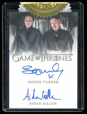 Game of Thrones Season 5 Sophie Turner & Aidan Gillen Incentive Dual Autograph