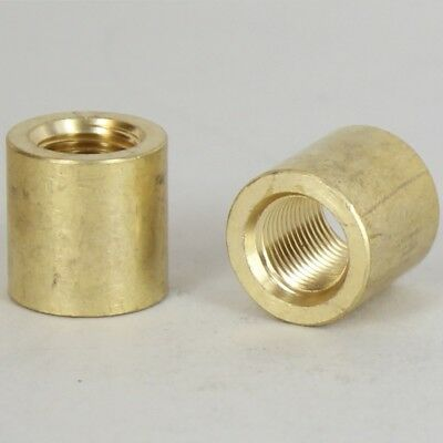 SOLID BRASS  ~ Pipe Nipple Coupling ~ 1/8 IPS to 1/4 IPS ~ Lamp Parts ~ #YB36