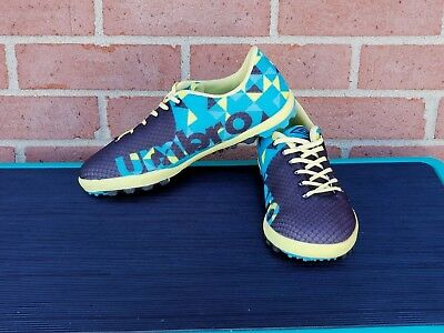3f762623f53 Womens Authentic Winter Umbro Women s Flash Turf Soccer Cleats Blue yellow  ...