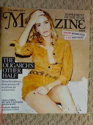 The Times Magazine New Elena Perminova Cover Instagram April Jones Interiors Spe