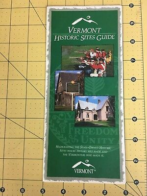 Vintage Travel Brochure Vermont Historic Sites Guide State Owned Historic Sites