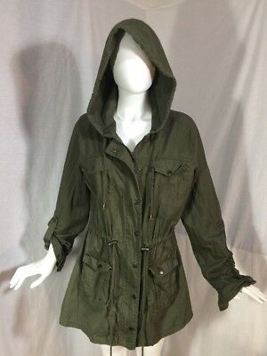Hot Topic Orphan Black Olive Green Hooded Jacket Sz XL Drawstring Waist