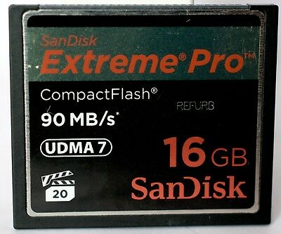 SanDisk Extreme Pro 16GB 90MB/sec compact flash card.