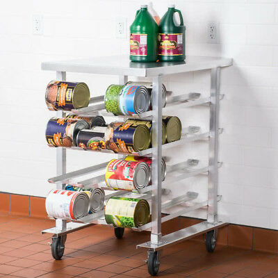 Restaurant NSF Half Size Stationary Aluminum Can Rack for #10 and #5 Cans