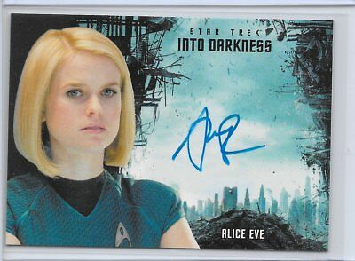 2017 STAR TREK BEYOND / INTO DARKNESS Alice Eve as Carol Marcus Autograph