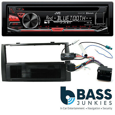 Peugeot 308 2007 On JVC Bluetooth USB CD MP3 AUX SWC Car Stereo Piano Black Kit