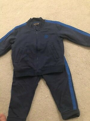 Boys Blue Roberto Cavalli Tracksuit Size Age 18 Months