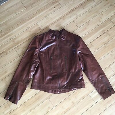103ddfe4c RACHEL WOMEN'S FITTED Brown Cognac Leather Jacket - $110.00 | PicClick