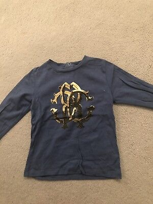 Baby Boys Roberto Cavalli Blue Long Sleeve Top Size 18 Months