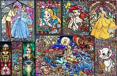 5D Diamond Painting Stained Glass Disney Characters Cartoon Princess Toystory UK