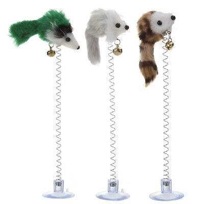 3pcs Funny Pet Cat Toys Feather False Mouse Bottom Sucker Cat Kitten Playing Toy