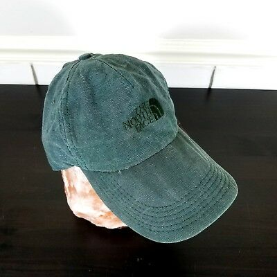 cf1c8e3ff1679 Vintage North Face Strapback Hat 5 Panel Cap Green Dad Hipster USA One Size  Worn