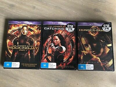 Hunger Games Dvds Mockingjay Catching Fire Region4
