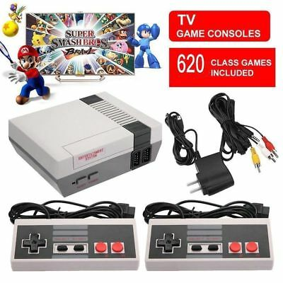 Mini Vintage Retro TV Game Console Classic 620 Built-in Games 2 Gamepad Kid Gift