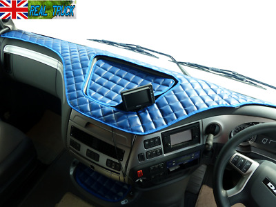 Truck Eco Leather Dash Mat Fit Daf Xf 106 - Blue
