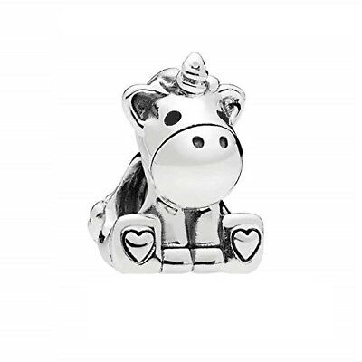 S925 Silver EURO Charm Bruno The Magical Unicorn by Pandora's Angels