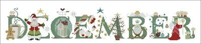 December cross stitch chart Digital Format