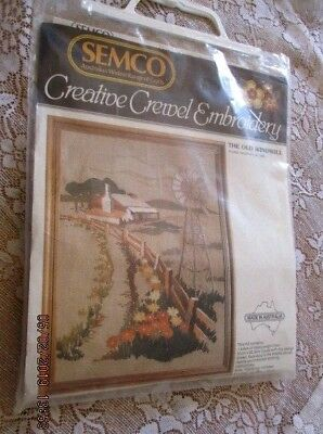 Semco Creative Crewel Embroidery - THE OLD WINDMILL Kit No.1232 Opened/Unworked