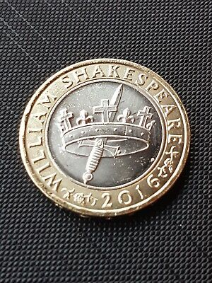 2016 Shakespeare Histories Crown & Dagger/Sword £2 Two Pound Coin 18047l