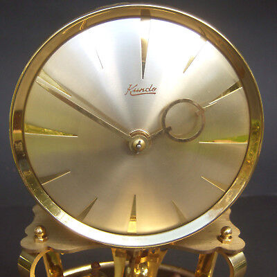 Vintage Kundo 400 Day Anniversary Wind Up Clock with Glass Dome Parts or Repair