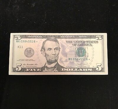 ** STAR ** $5 2013 ** Federal Reserve Note **RARE RUN 320k** - Money - Star Note