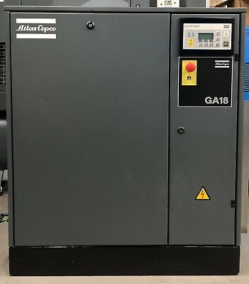 Atlas Copco GA18FF Rotary Screw Compressor With Filters & Dryer 18.5Kw, 106Cfm!