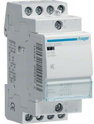 Hager HUMFREE CONTACTOR 230V 4xN/O Screw Connection*German Brand-25A, 40A Or 63A