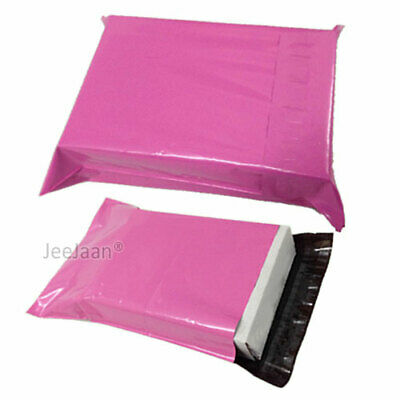 "50 Pink Postal Bags Mailing Parcel Plastic Strong Poly 12"" x 16"" Mailers"