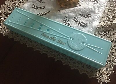 Vintage Knitting Needle Box Origonal Collectable Craft