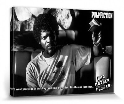 Pulp Fiction -Samuel Jackson Poster Canvas Print (16x12inches) #66731