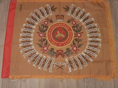 The Gloucestershire Regiment 1st battalion Regimental colours flag.