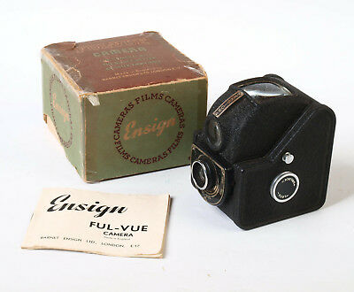 Ensign Ful-Vue Box 120 Film Camera boxed and original instructions