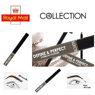 Collection 2000 Define & Perfect Eyebrow Powder 2x Shades🇬🇧UK Seller Brand New