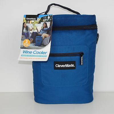ed128046787e CLEVERMADE WINE BOTTLE and 6 Pack Cooler Bag; Insulated Tote with ...
