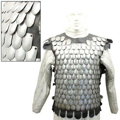 Medieval Warrior Armour of Scales-20 Gauge, For Stage, Re-enactment or LARP