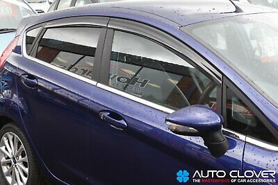 For Ford Fiesta MK7 2009 - 2017 5 Door Wind Deflectors Set (4 pieces)