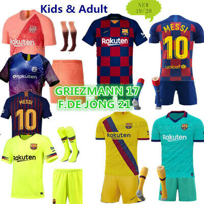 5b181ad88 Soccer Football Outfit Kids Adult Club Jerseys Strips Christmas Customized  Gift