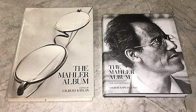 The Mahler Album Lot (2) Gilbert Kaplan 2011 & 1995 Hardcover Abrams Opera Rare!