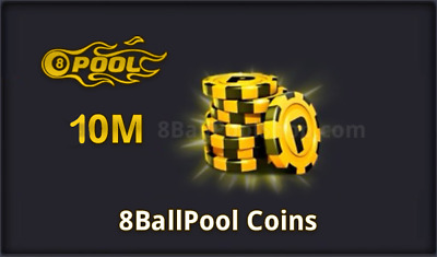 8 Ball Pool Coins 10 Milion-(Transfer OR New account)-FAST DELIVERY ON YOUR ACC