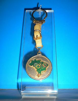 1980 OLYMPIC GAMES MOSCOW USSR Official Brazil Olympic Committee Keychain & Logo