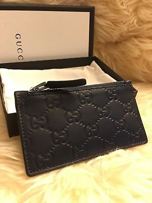 473ab68604d NEW GUCCI SUPREME Guccissima Wolf Badge Card Case Wallet W box ...