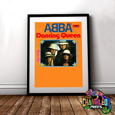 ABBA Poster A3 A4 ABBA Vintage Poster Print Dancing Queen Poster