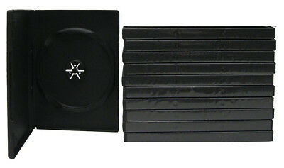 10 Standard 14mm Black DVD Cases - Single Disc